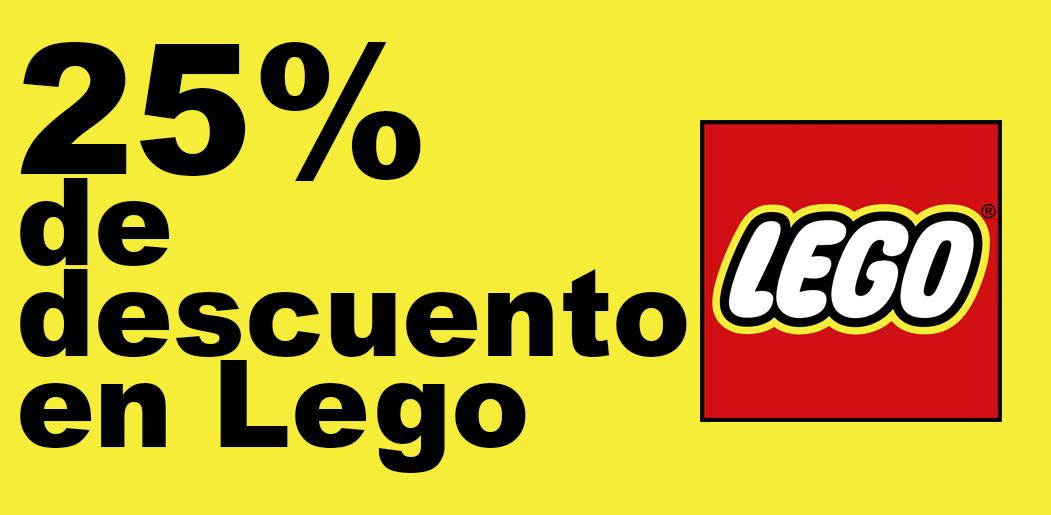 25% En productos de LEGO hasta el 22 de Diciembre