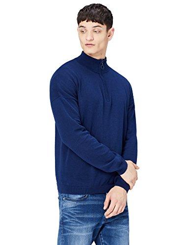 Marca Amazon - find. Jersey de Cuello Alto con Cremallera para Hombre