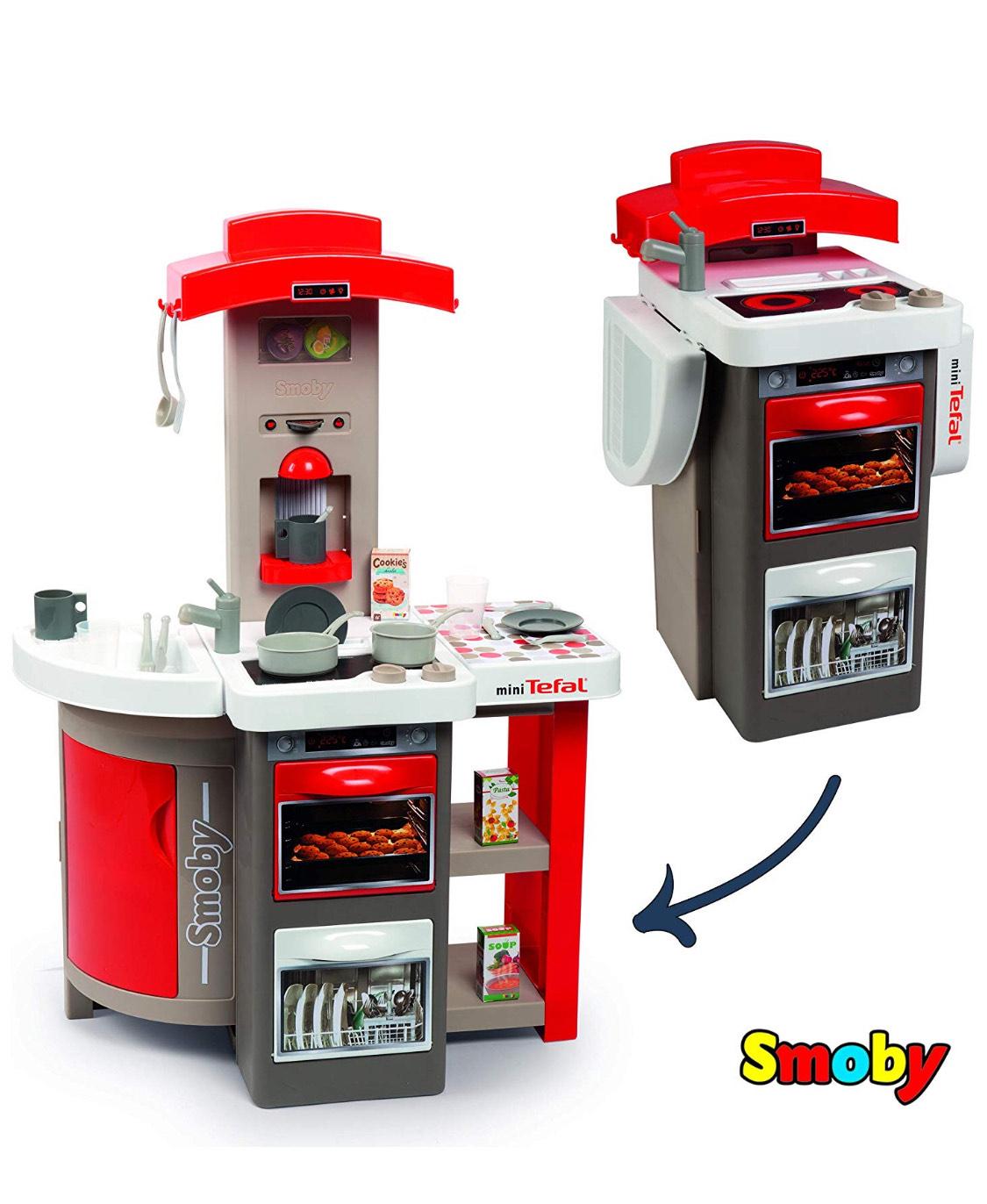 Smoby- Cocina de Juguete Plegable, Color Rojo. Mínimo Histórico