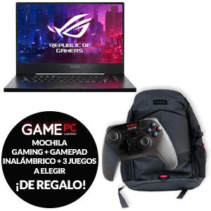 Portátil Asus Ryzen 7 3750H 1660TI + mochila + mando + 3 juegos