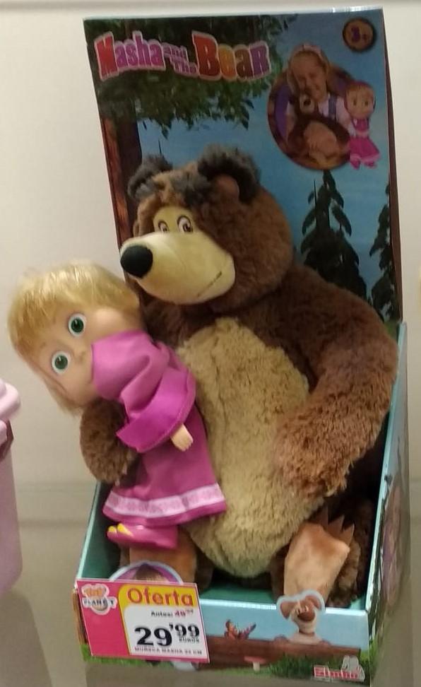Muñeca Masha y peluche del Oso, Toy Planet (Getafe) (Solo quedan 2)