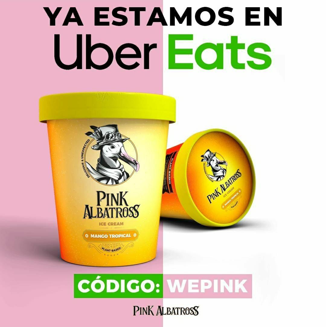 5€ de regalo en Pink Albatross con Uber Eats [Pedido Mínimo 15€]