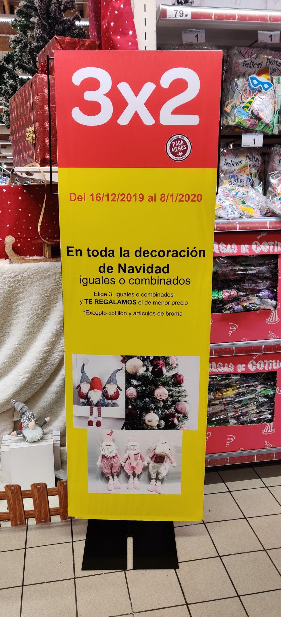 3x2 decoración navidad Carrefour