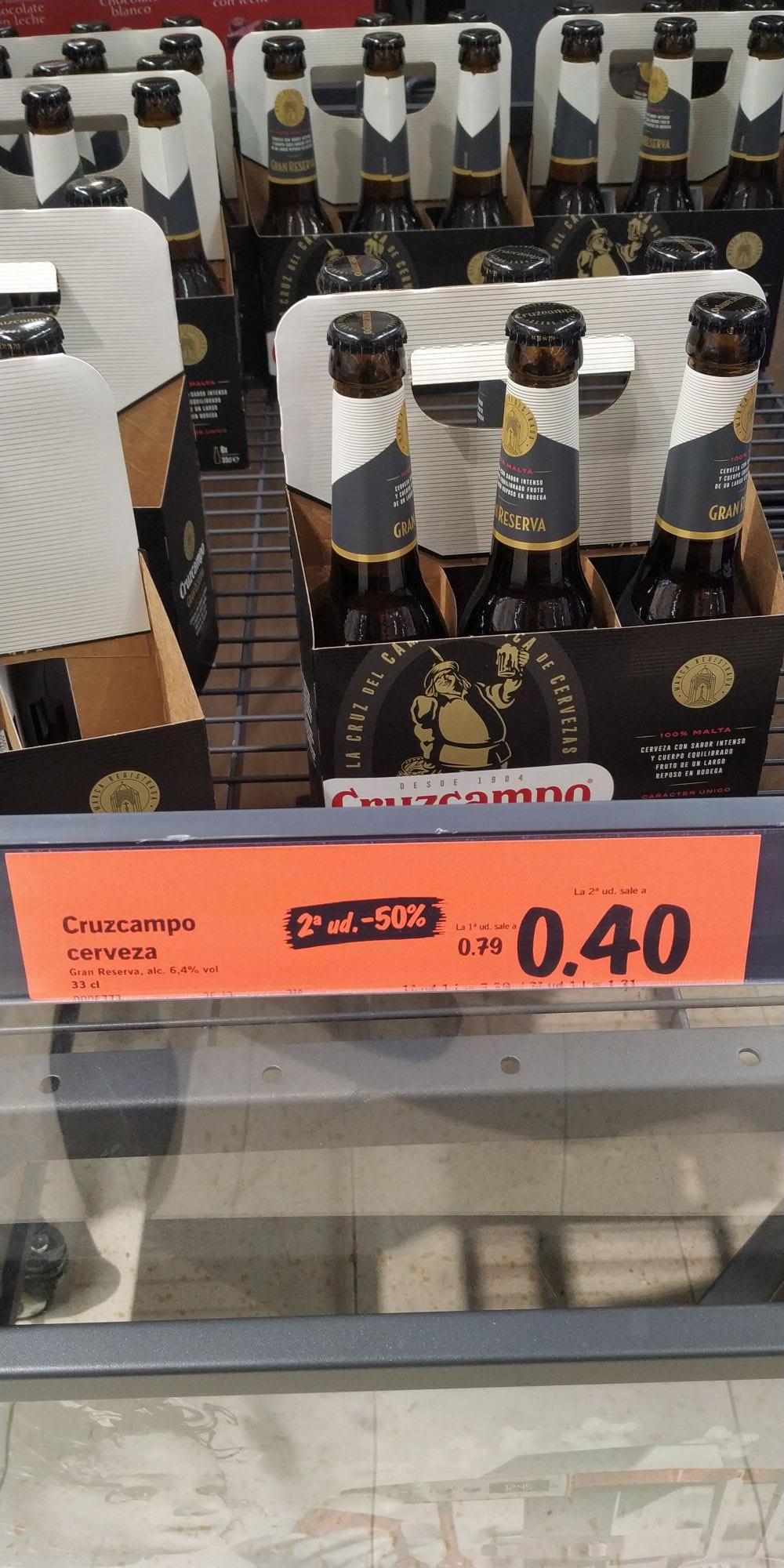 Cruzcampo Gran Reserva 2° unidad a mitad de precio (Lidl)