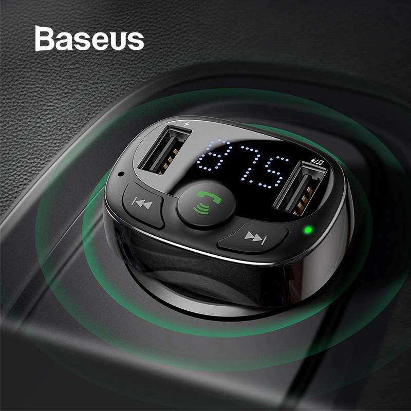 Transmisor Baseus FM Bluetooth y Cargador para Coche Desde España