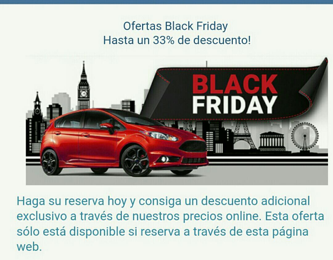 Black Friday en coches de alquiler
