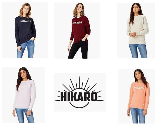(6 COLORES - VARIAS TALLAS) - HIKARO Sudadera con Print para Mujer