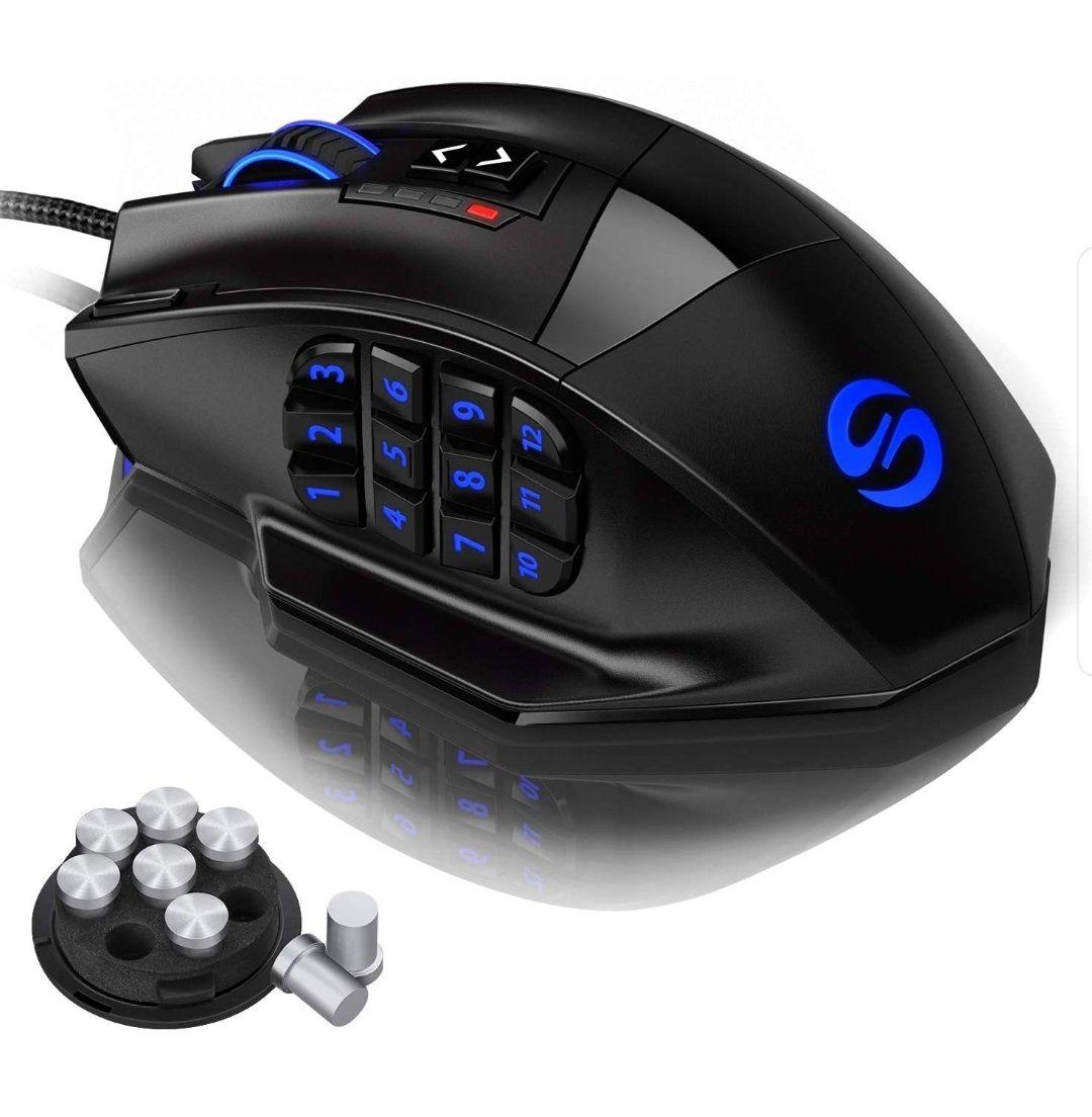 Ratón gaming 16400 dpi, 18 botones programables, reaco como nuevo