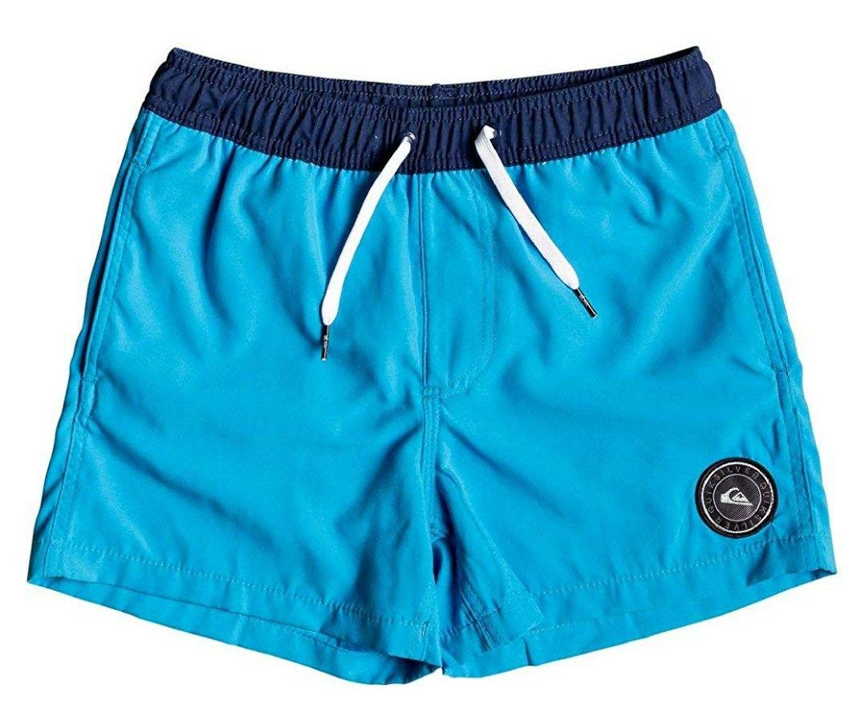"""Quiksilver Glitch 13"""" Bañador Azul, Niños Talla M y Camiseta S"""