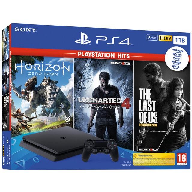 PS4 1TB + Uncharted 4 + The Last Of Us + Horizon Zero Dawn