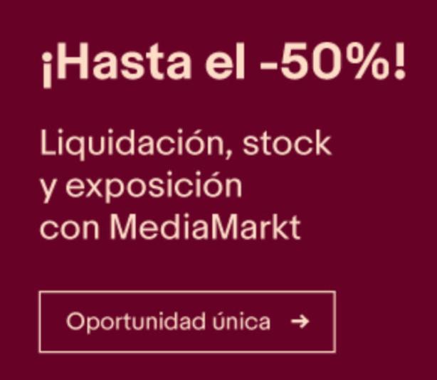 Outlet Mediamarkt en eBay - Hasta el 50%