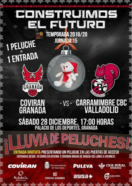 Entrada Gratis a cambio de peluche Covirán Granada - CBC Valladolid