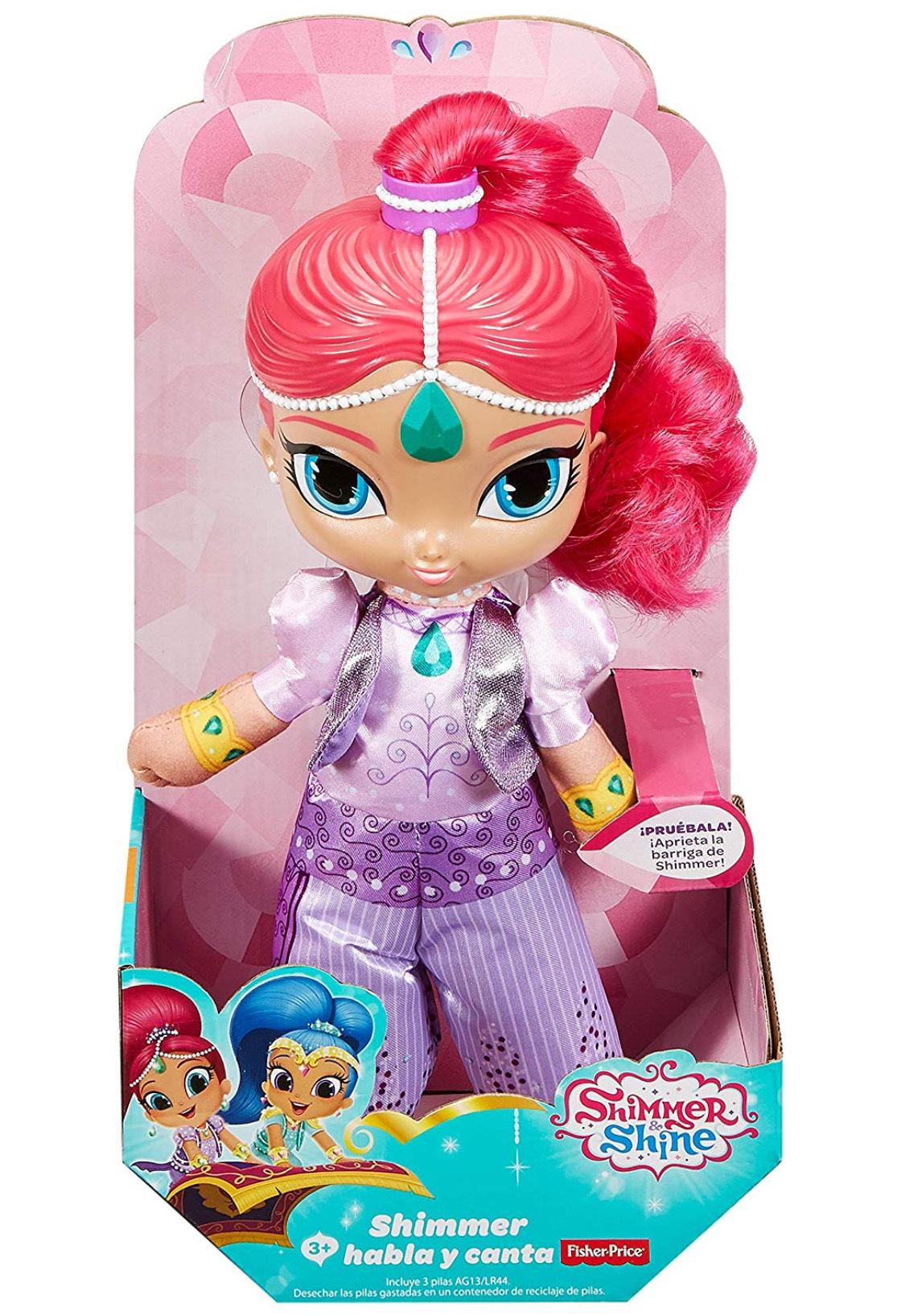 Shimmer y Shine Genio Shimmer habla y canta, muñeca con sonidos