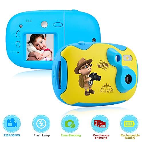 Camara Fotos Infantil 1.44 Pulgadas con Pegatina y Carcasa de Repuesto