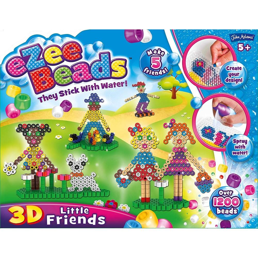 JohnAdams 10443 Ezee Beads - Juego De Cuentas 3D Para Pequeños Amigos
