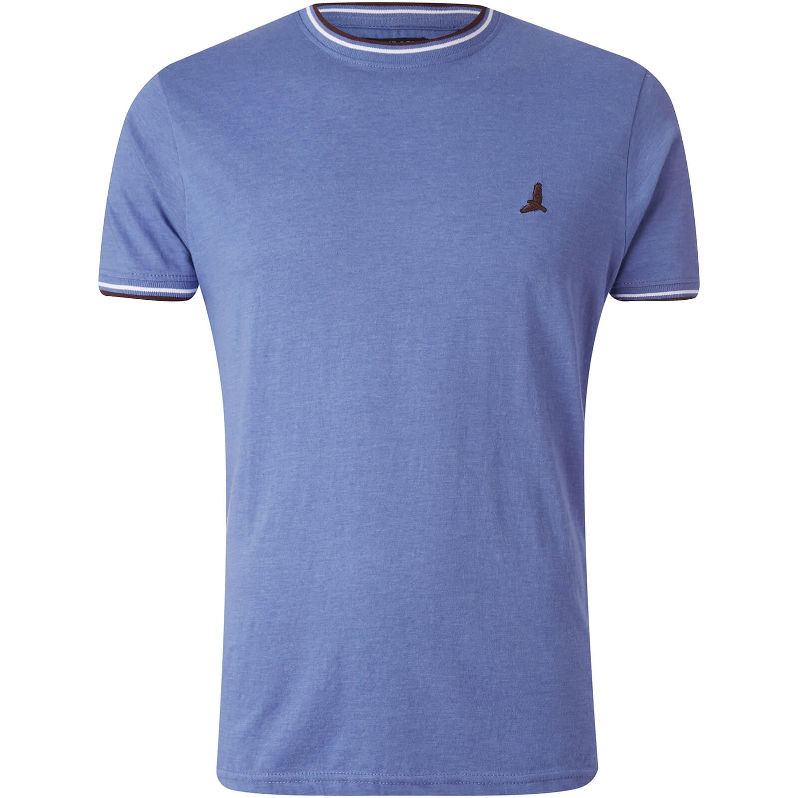 Brave Soul Men's Federer Tipped T-Shirt - Blue Marl talla S