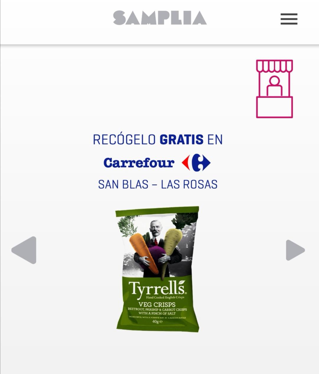 MUESTRA GRATIS TRYRRELS SAMPLIA SAN BLAS-MADRID