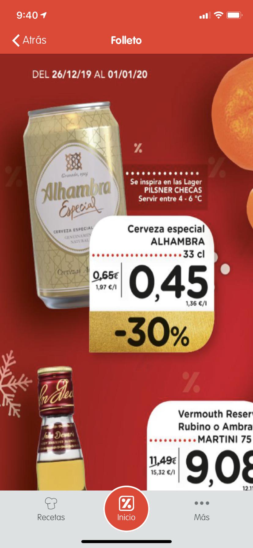 Cerveza Alhambra 33cl