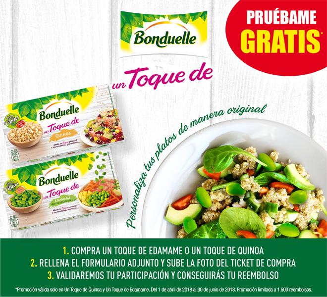 Bonduelle - Un toque de Quinoa/Edamame GRATIS [Reembolso]