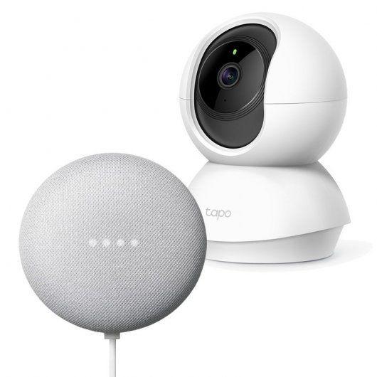Oferta Pack nuevo Google Home nest mini y Camara Ip Tp-link c200