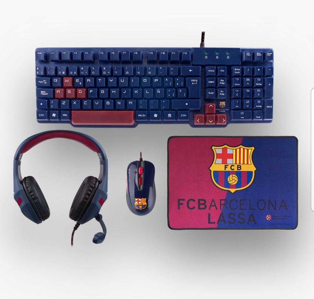 Pack raton, teclado y auriculares para culés