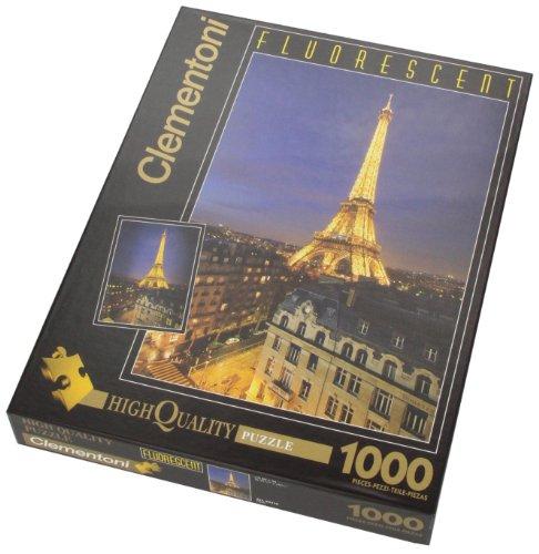 Clementoni - Puzzle de 1000 Piezas, Fluorescent Collection, diseño París