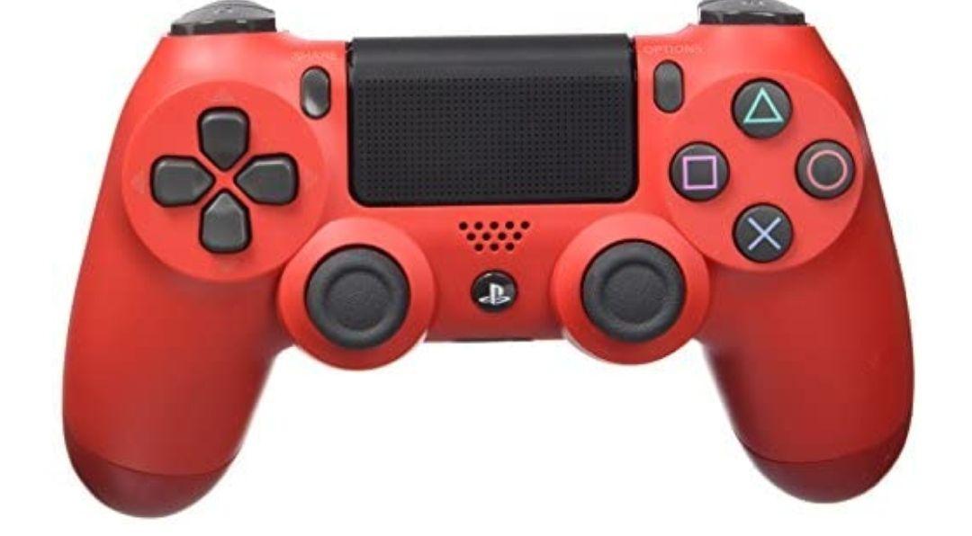 Dualshock 4 V2 Mando Inalámbrico, Color Rojo / Negro (PS4)