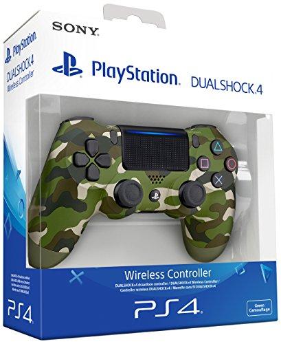 Sony - Dualshock 4 V2 Mando Inalámbrico, Color Verde Camuflaje PS4
