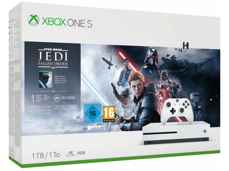 Consola - Microsoft Xbox One S, 1 TB + Star Wars: Jedi Fallen Order