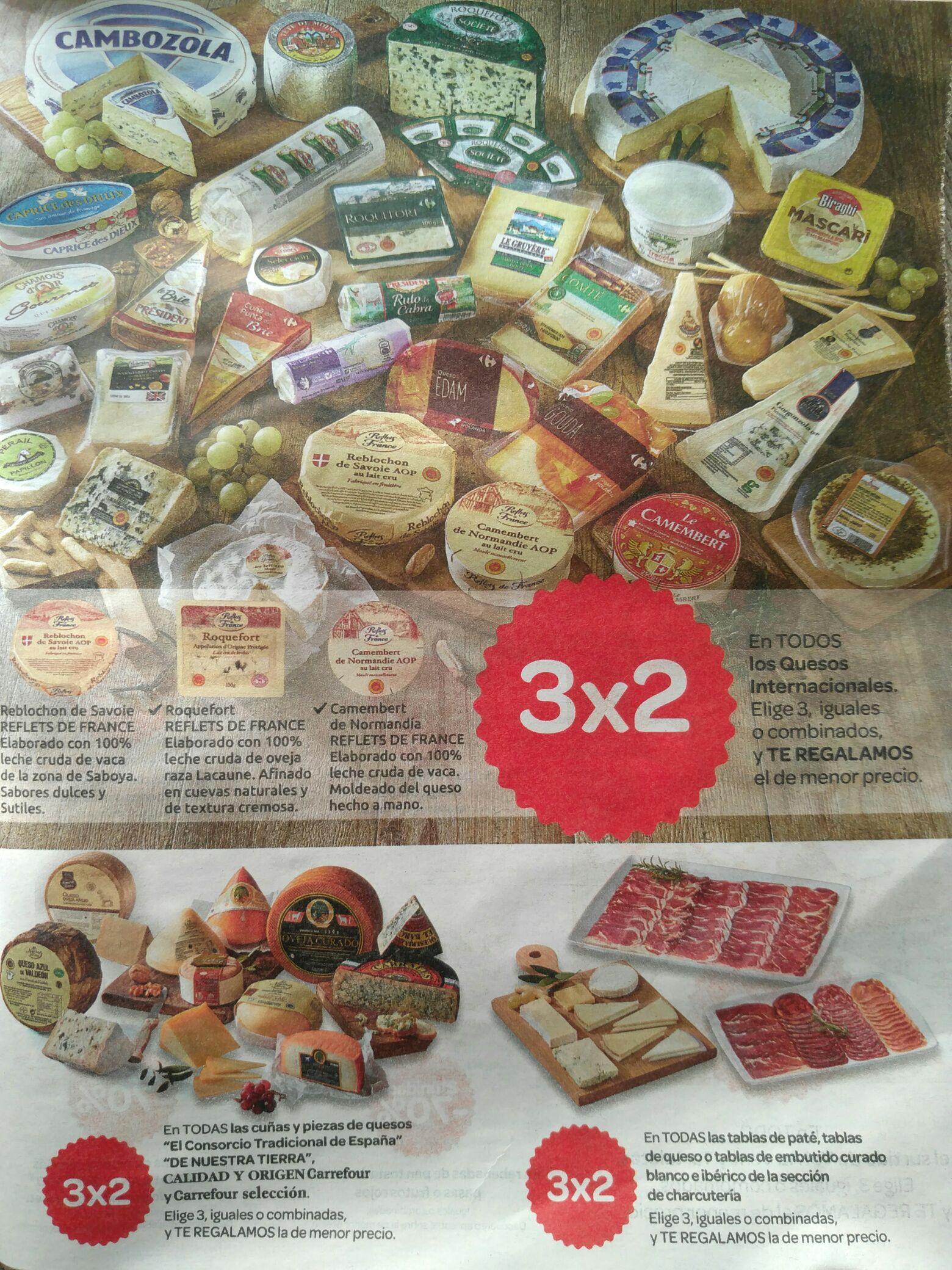3x2 en quesos internacionales