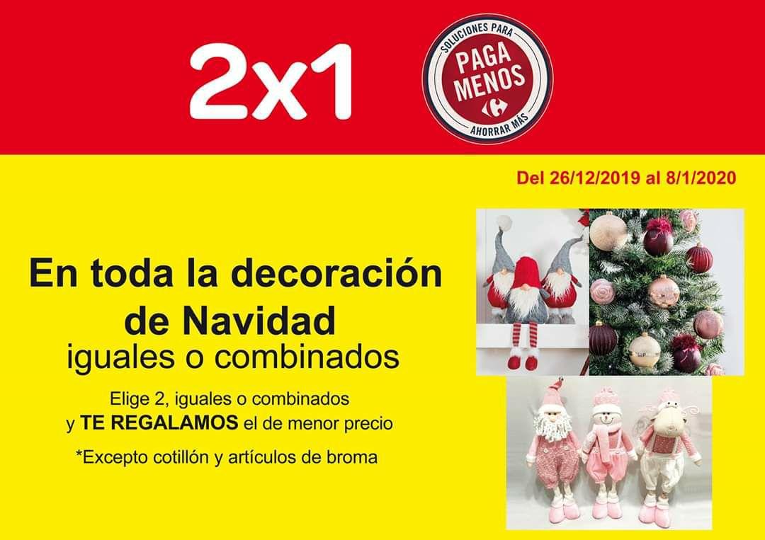 2x1 decoración navidad en carrefour