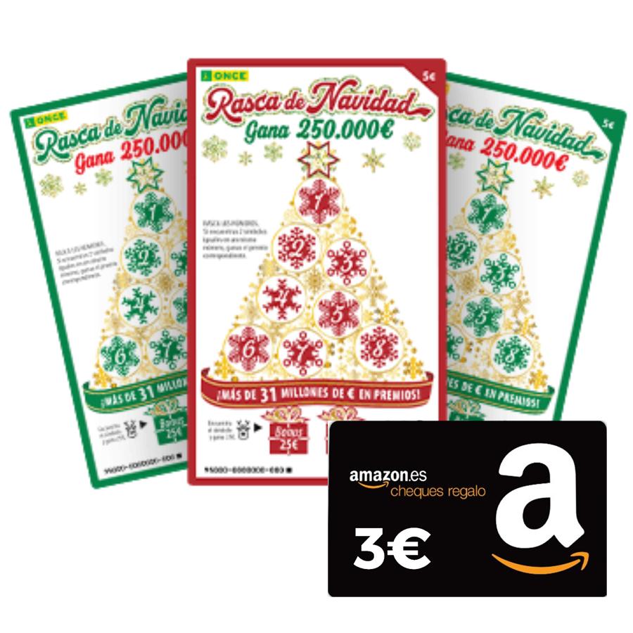 Rasca de Navidad GRATIS + 3€ Amazon