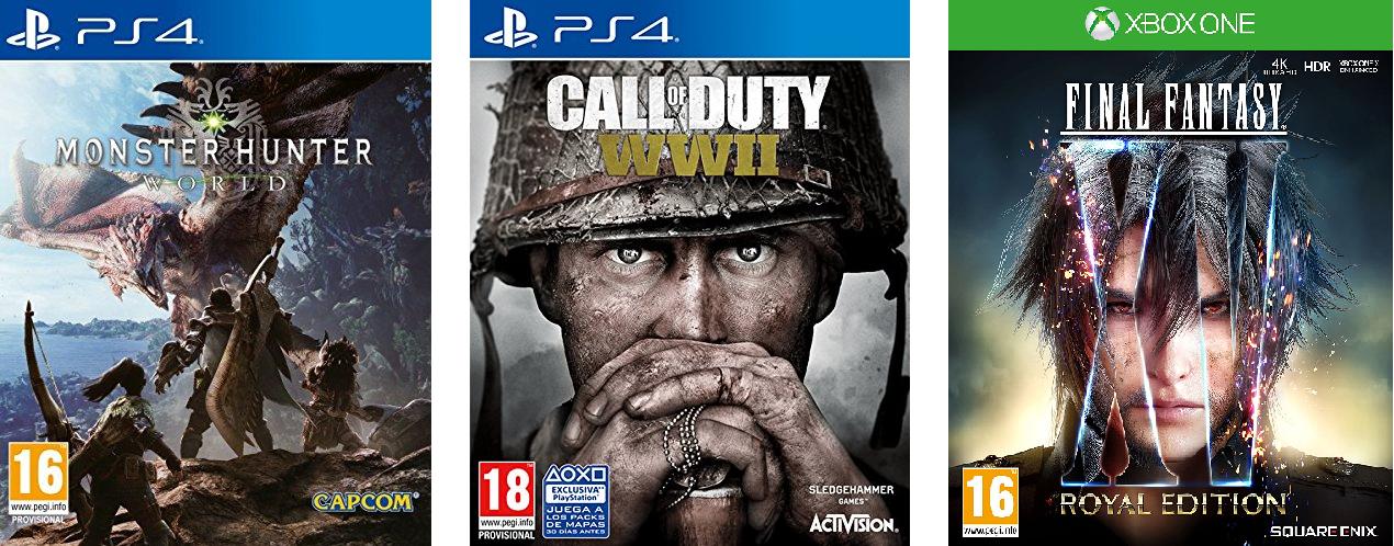 Rebajas en juegos de PS4, XBOX y PC