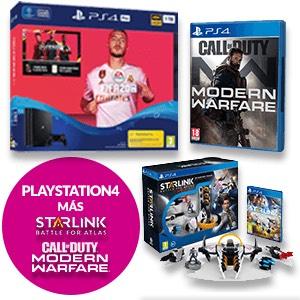 PS4 Slim 1TB + Fifa 20 + COD MW + Starlink