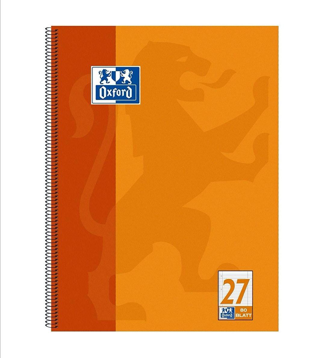 Cuaderno Oxford de pasta dura tamaño A4. (Reaco Muy Bueno)