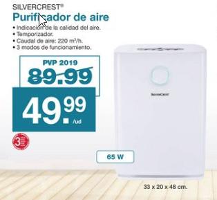 Purificador de aire Silvercrest por 49.99 (Canarias)