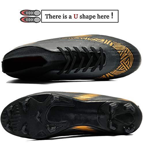 Donbest Botas de Fútbol para Hombre Spike Zapatillas de Fútbo