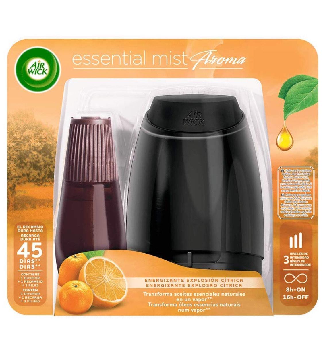 Air Wick Ambientador Essential Mist difusor de aceites Esenciales + 1 Recambio