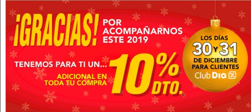 Día descuenta un 10% adicional en nuestra compra los días 30 y 31.