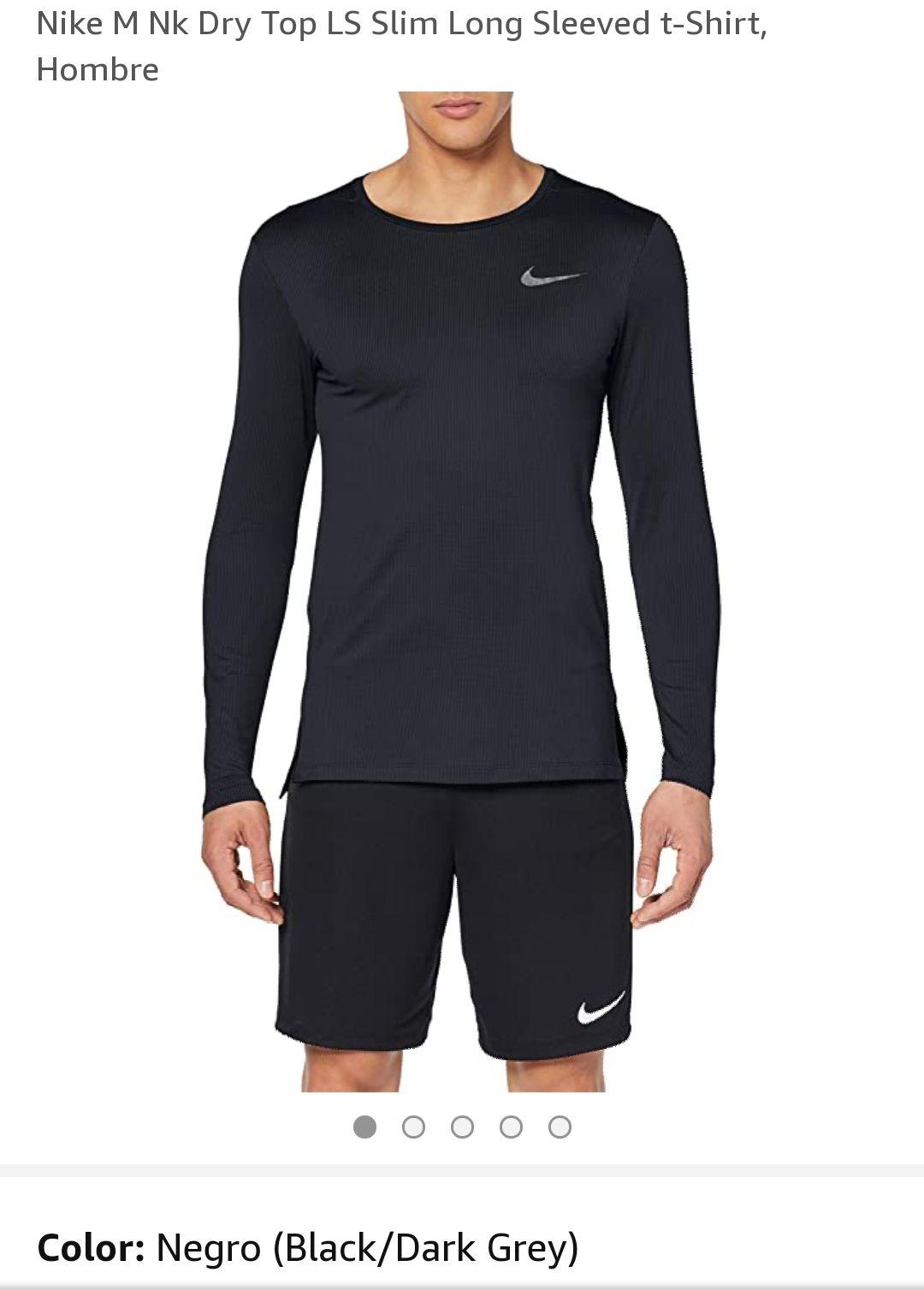 Nike M Nk Dry Top LS Slim Long Sleeved t-Shirt, Hombre