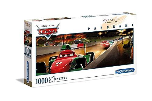 Producto plus Clementoni 39488 The Art of Disney Puzzle Panorama, Cars, 1000 piezas