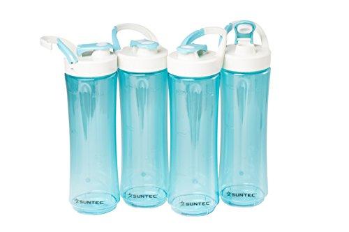 Suntec Wellness SMO-9550 4 botellas deportivas, turquesa