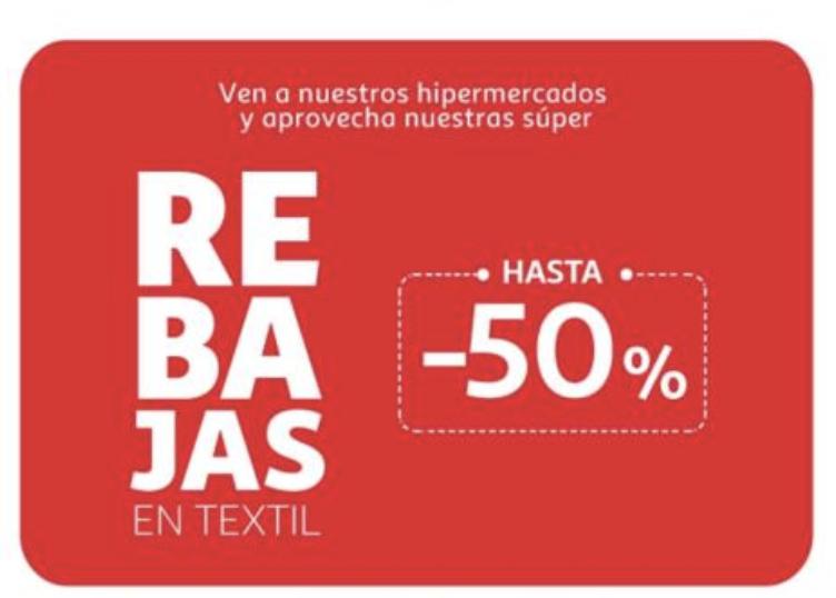 Hasta -50% (textil) - Alcampo