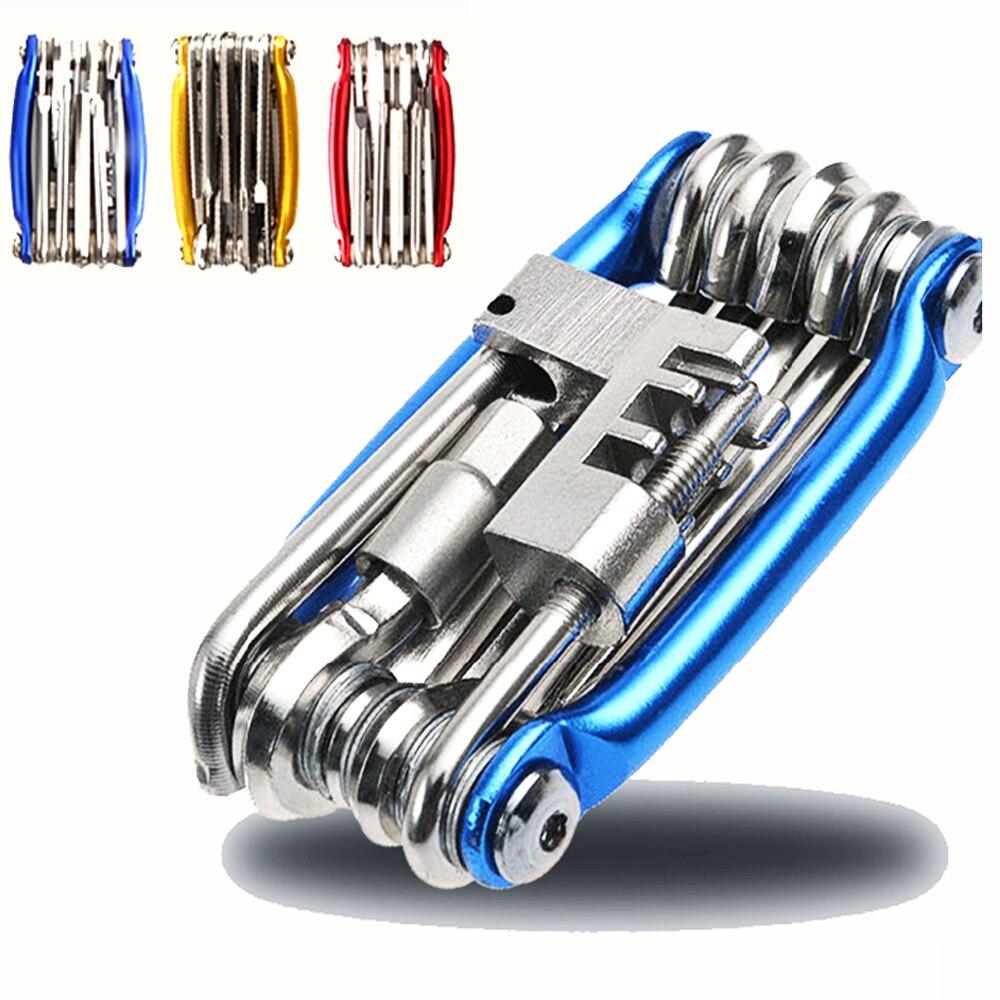 Bicicleta herramientas reparación conjunto 15 en 1