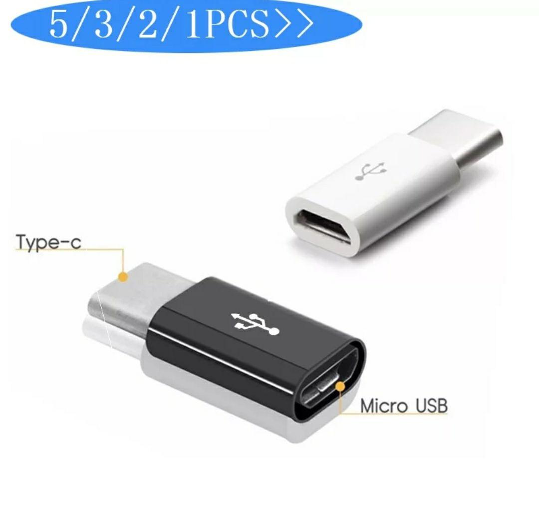 5 uds. Adaptador Micro USB a USB C adaptador de teléfono móvil