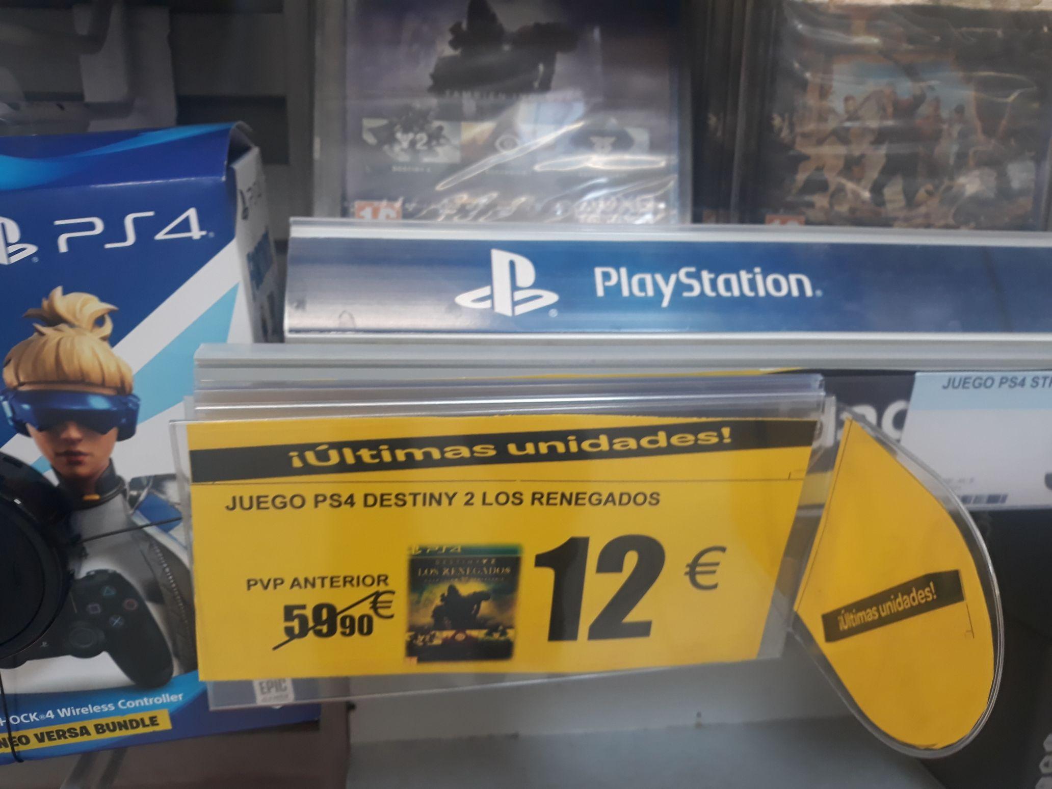 PS4 Destiny 2: Los Renegados Colección Legendaria Oferta Carrefour Alcala de Henares