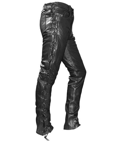 Pantalones moteros de cuero German Wear Talla 48 (S) - REACO: Estado muy bueno