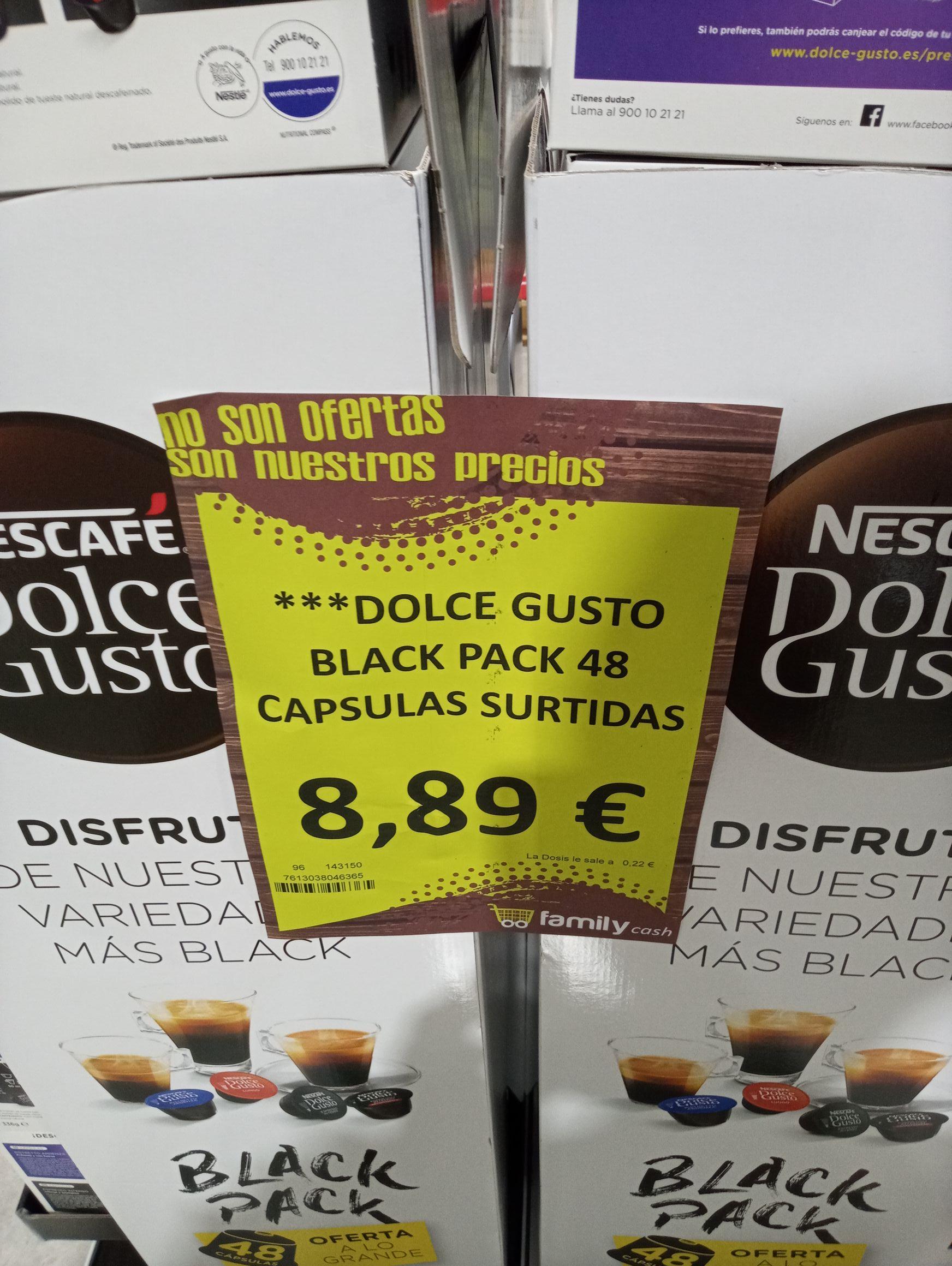 Pack 48 capsulas de dolcegusto (FamilyCash Alzira)