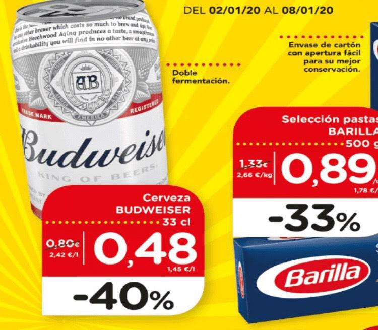 Budweiser -40% en DIA
