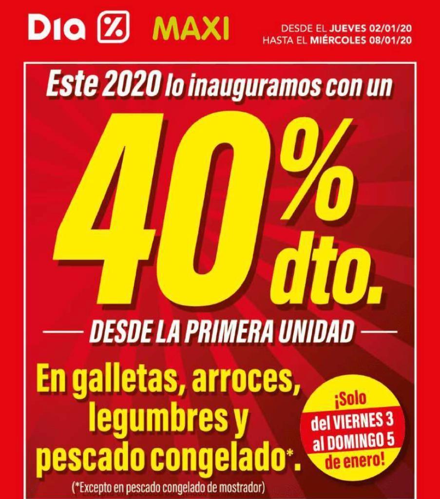 40% galletas, arroces, legumbres y pescado congelado en supermercados Día